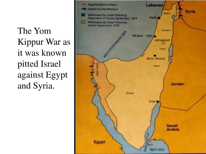 The Yom Kippur War as  it was known pitted Israel against Egypt and Syria.