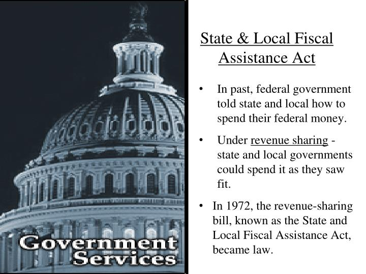 State & Local Fiscal Assistance Act
