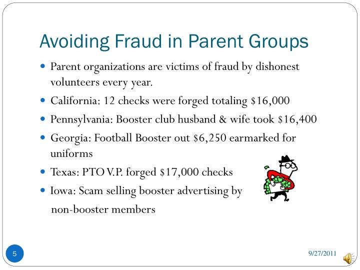 Avoiding Fraud in Parent Groups