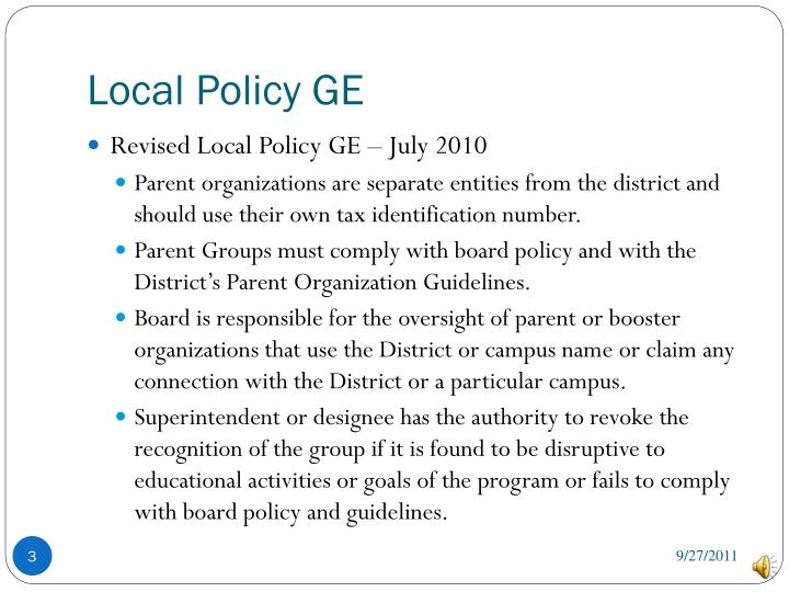 Local policy ge