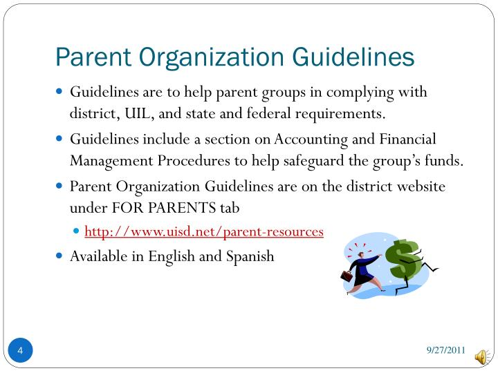Parent Organization Guidelines
