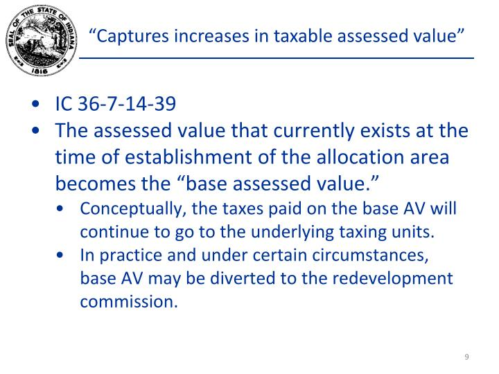 """Captures increases in taxable assessed value"""