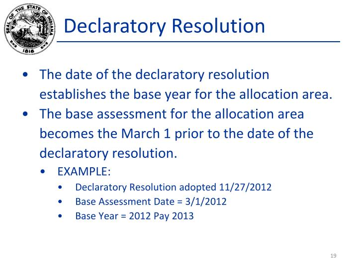 Declaratory Resolution
