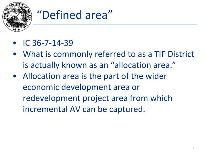 """""""Defined area"""""""