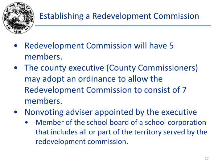 Establishing a Redevelopment Commission