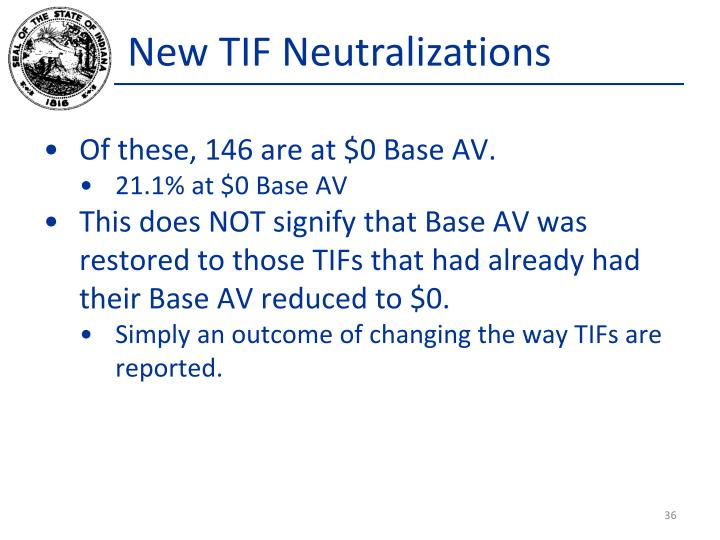 New TIF Neutralizations