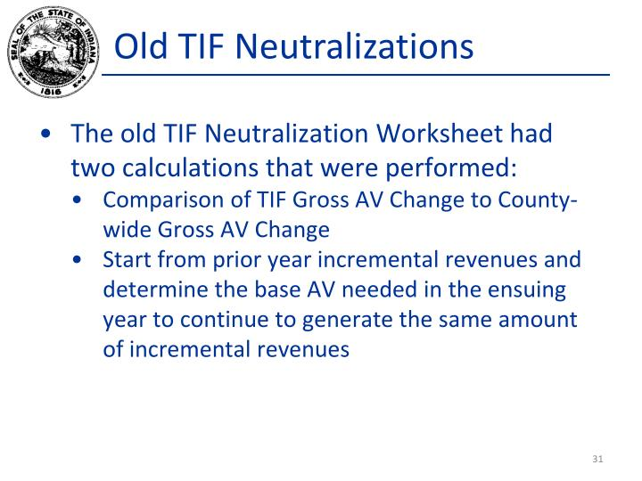 Old TIF Neutralizations