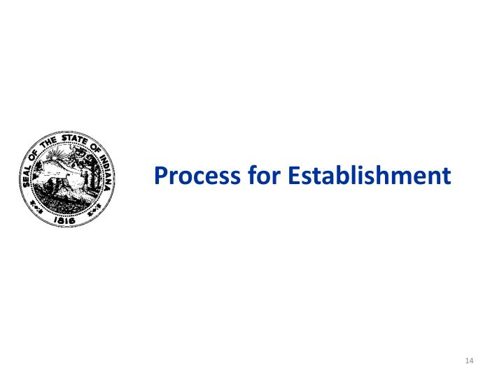 Process for Establishment