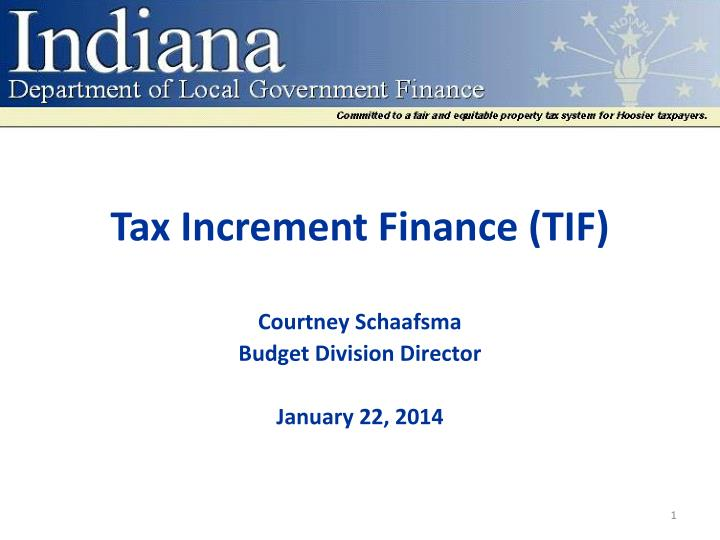 Tax increment finance tif