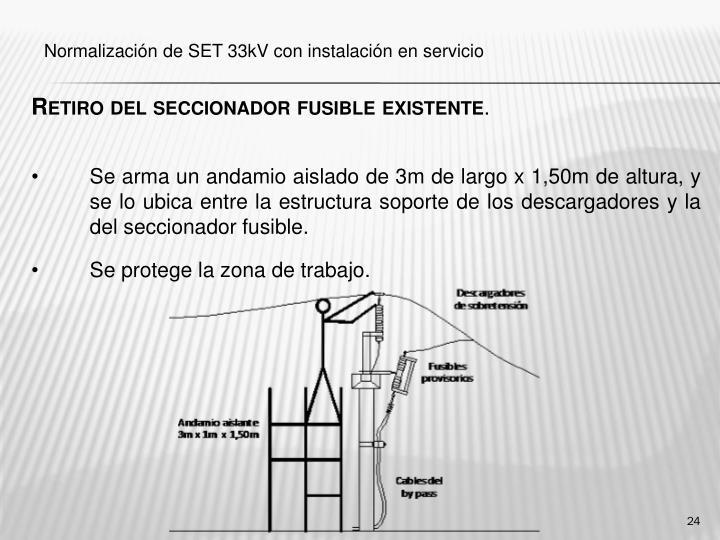 Retiro del seccionador fusible existente