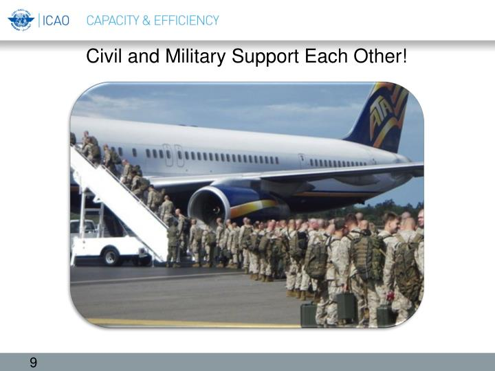 Civil and Military Support Each Other!