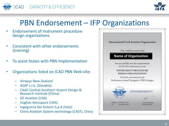 PBN Endorsement – IFP Organizations