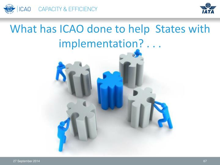 What has ICAO done to help  States with implementation? . . .