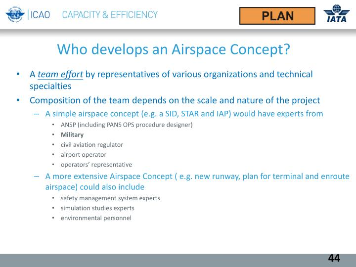 Who develops an Airspace Concept?