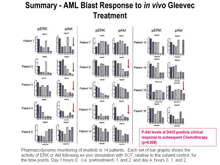 Summary - AML Blast Response to