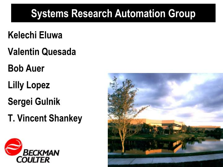 Systems Research Automation Group