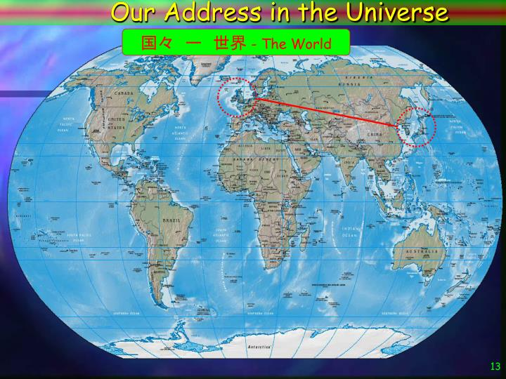 Our Address in the Universe