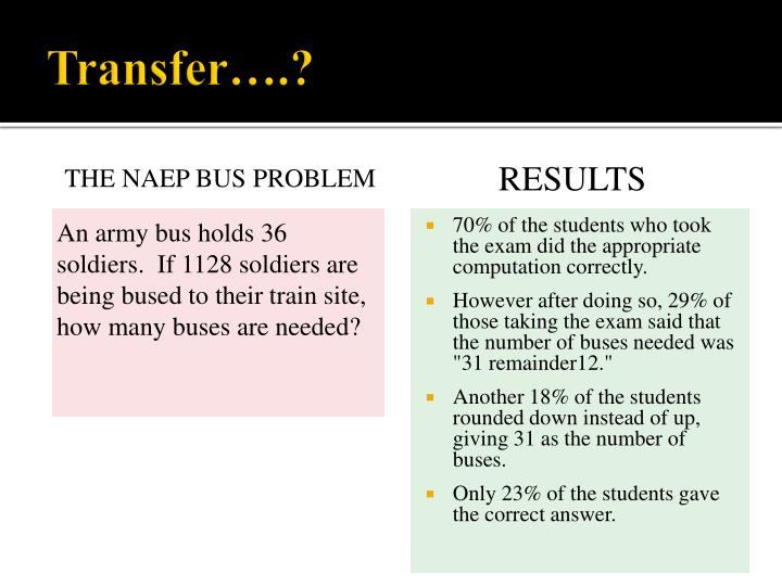 Transfer….?