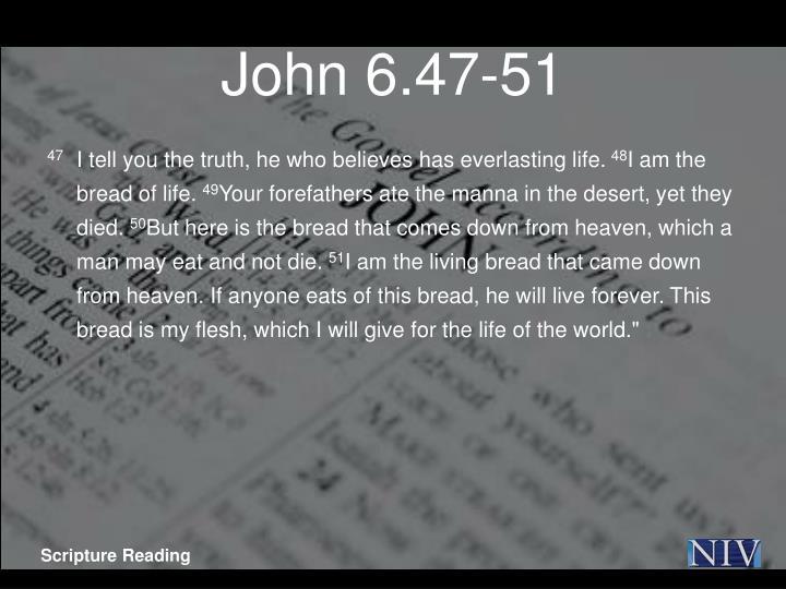 John 6.47-51