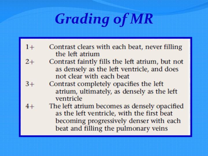 Grading of MR