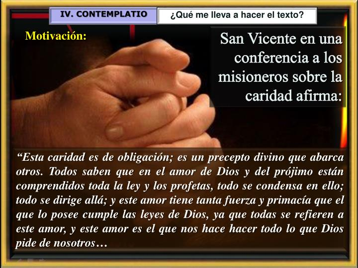 IV. CONTEMPLATIO