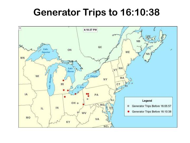 Generator Trips to 16:10:38