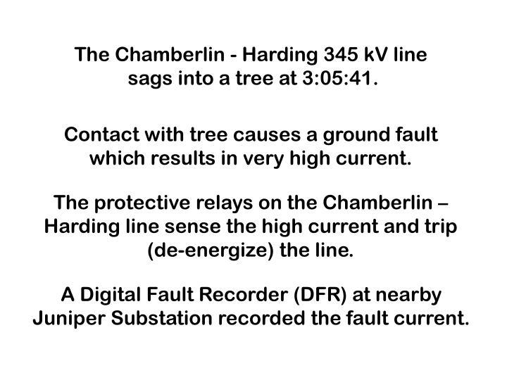 The Chamberlin - Harding 345 kV line
