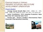 chemical industry in vietnam present situation and future development orientation