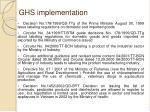 ghs implementation1