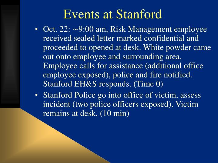 Events at Stanford