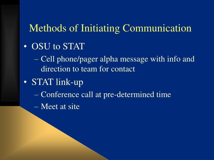 Methods of Initiating Communication
