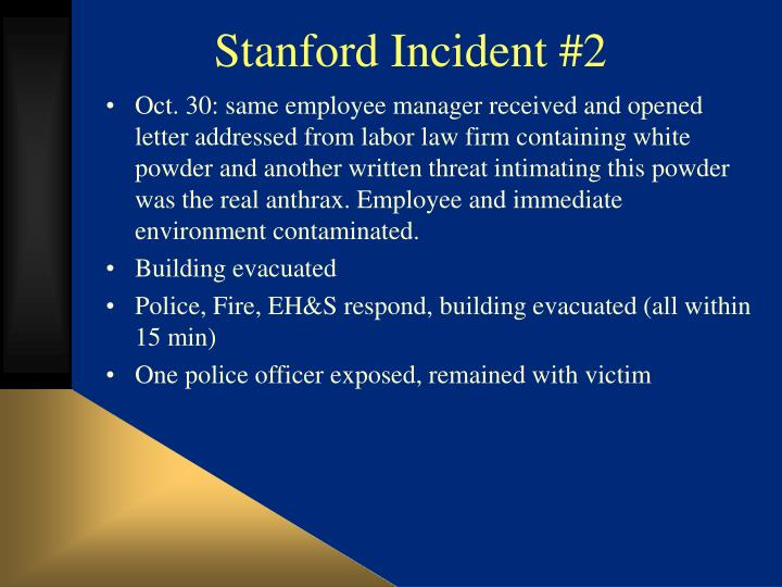 Stanford Incident #2