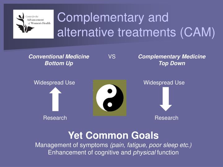 Complementary and alternative treatments (CAM)