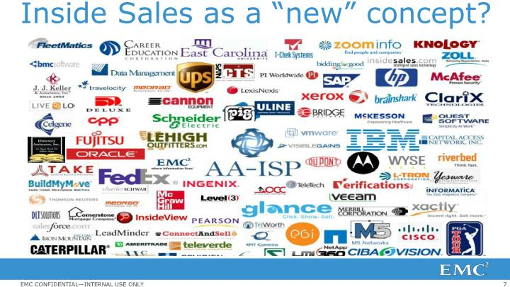 "Inside Sales as a ""new"" concept?"