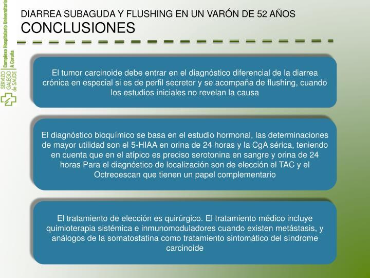 DIARREA SUBAGUDA Y FLUSHING EN UN VARÓN DE 52 AÑOS