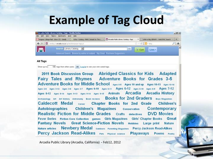 Example of Tag Cloud