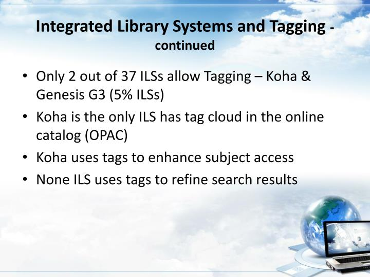 Integrated Library Systems and Tagging