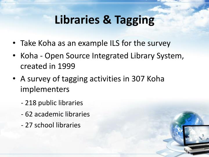 Libraries & Tagging