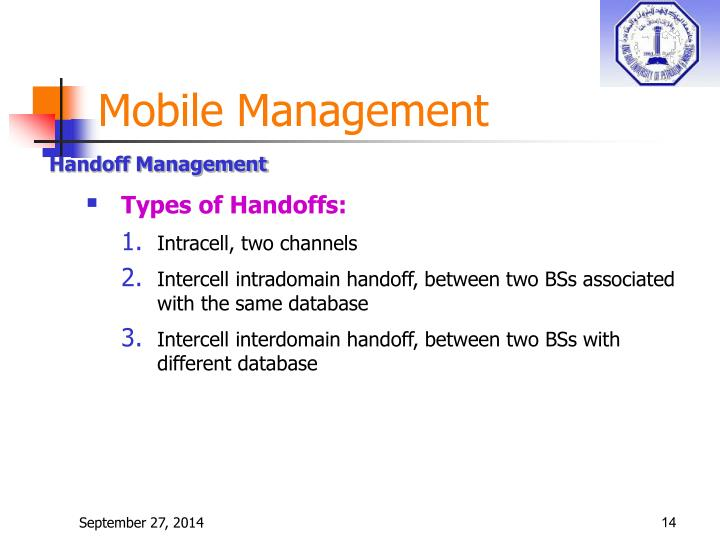 Mobile Management