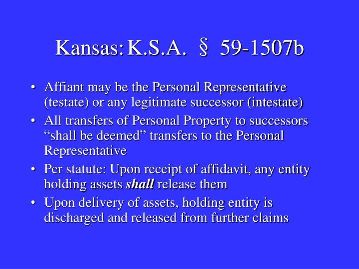 Kansas:K.S.A. § 59-1507b