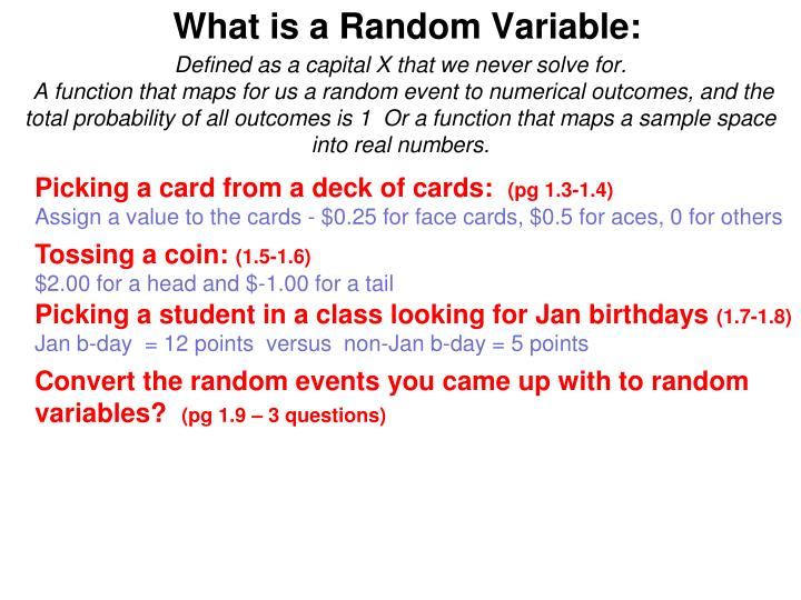 What is a random variable