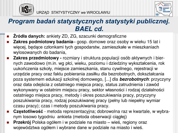 Program badań statystycznych statystyki publicznej.