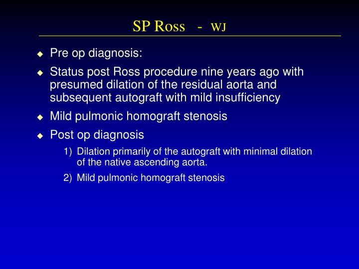 SP Ross   -