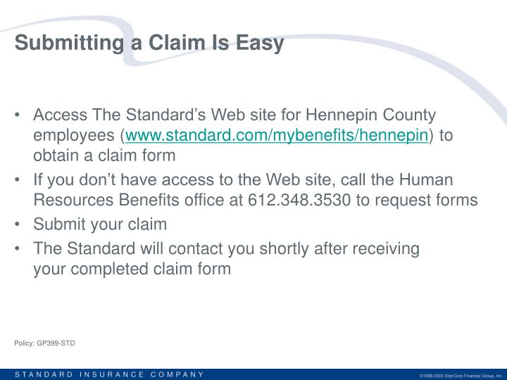 Submitting a Claim Is Easy