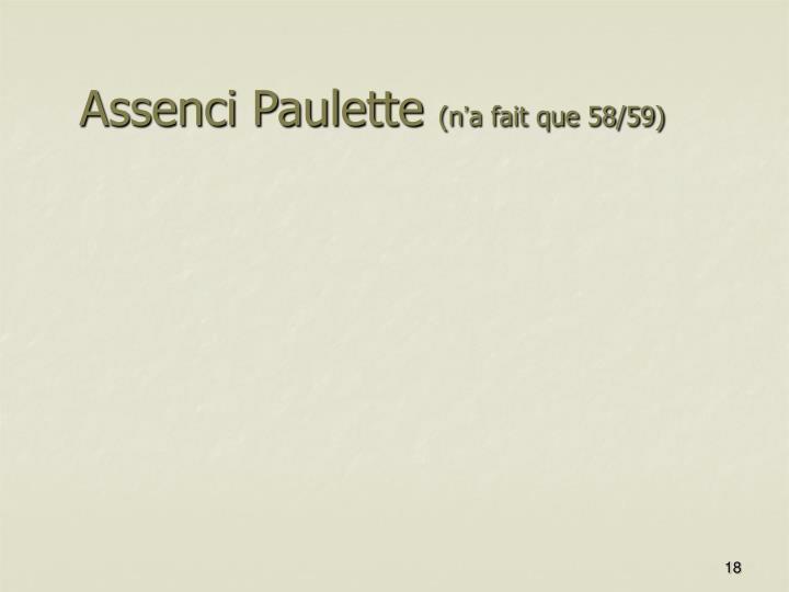 Assenci Paulette