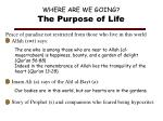 where are we going the purpose of life1