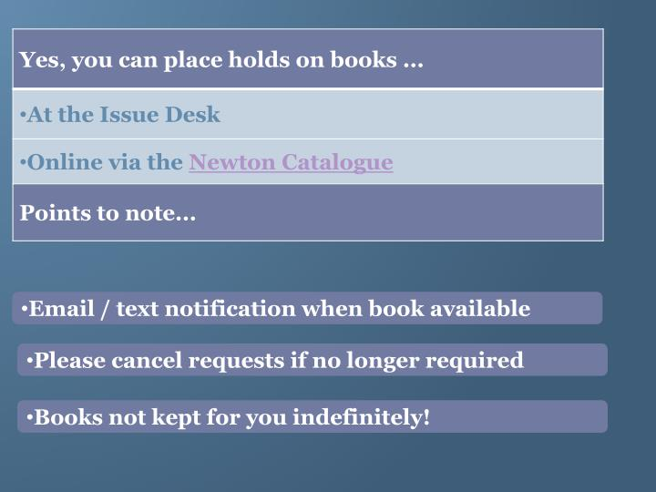 Email / text notification when book available