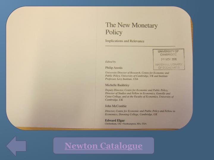 Newton Catalogue