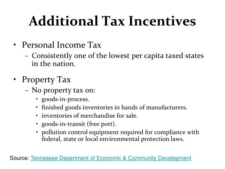 Additional Tax Incentives