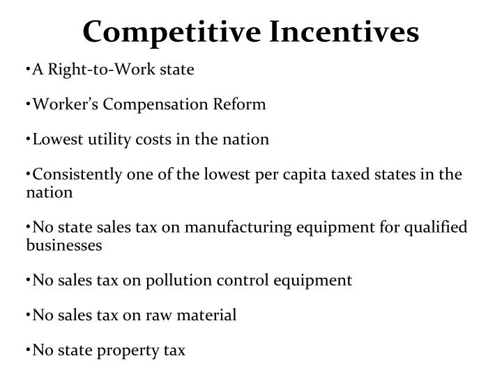 Competitive Incentives